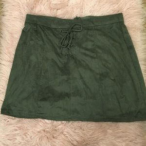 Maurices Army Green Skirt (Size L)